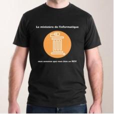 """T-shirt - """"Le ministère de l'informatique"""""""